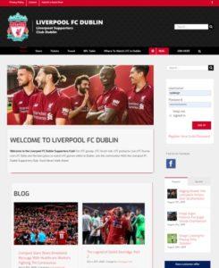 sports blog website template