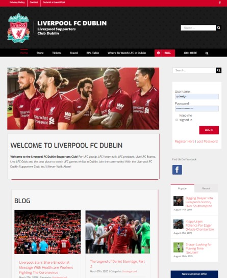 sports blog website template